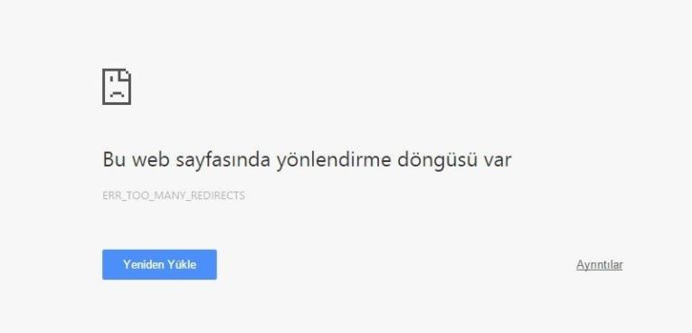 Wordpress ERR_TOO_MANY_REDIRE Hatasının Çözümü